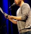 Christian Ritter beim Poetry Slam in Erlangen im Januar 2016