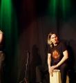 Die Band Cynthia Nickschas beim Poetry Slam in Erlangen im Januar 2016