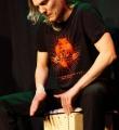 Cynthia Nickschas beim Poetry Slam in Erlangen im Januar 2016