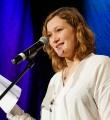 Josefine Berkholz beim Poetry Slam in Erlangen im Januar 2017