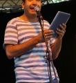 Helmuth Steierwald beim Open Air Slam Erlangen im Juli 2015