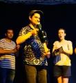 Der Sieger Nektarios Vlachopoulos  beim Open Air Slam Erlangen im Juli 2015