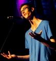 Ole Wegen beim Poetry Slam Erlangen im Juni 2015