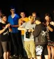 Sieger Elias Hirschl beim Poetry Slam Erlangen im Juni 2015