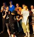 Siegerhandschlag beim Poetry Slam Erlangen im Juni 2015