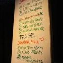 Die Poetenliste beim Poetry Slam im März 2014