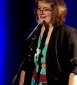 Christine Fritz beim Poetry Slam in Erlangen im März 2015