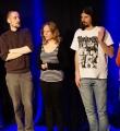 Die Finalisten beim Poetry Slam in Erlangen im März 2015