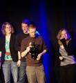 Die Bierverkostung der Gewinner beim Poetry Slam in Erlangen im März 2015