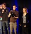 Die Gewinner beim Poetry Slam in Erlangen im März 2015