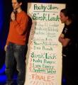 Die Poetenliste beim Poetry Slam in Erlangen im März 2015