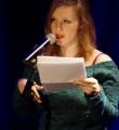 Marlene Scheuermeyer beim Poetry Slam in Erlangen im März 2015