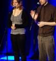 Team Mikrokosmos beim Poetry Slam in Erlangen im März 2015
