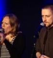 Team Mikrokosmos im Finale beim Poetry Slam in Erlangen im März 2015