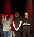 Die Finalisten beim Poetry Slam Erlangen im März 2016