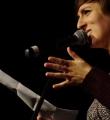 Kathi Mock beim Poetry Slam Erlangen im März 2016