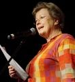Rita Apel beim Poetry Slam Erlangen im März 2016