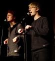 Team Natürlich Blond beim Poetry Slam Erlangen im März 2016