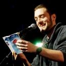 Marvin Ruppert beim Poetry Slam Erlangen im Mai 2014