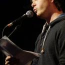 Nils Frenzel beim Poetry Slam Erlangen im Mai 2014