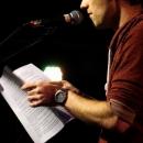 Philipp Czerny beim Poetry Slam Erlangen im Mai 2014