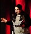 Annika Hengst beim Poetry Slam Erlangen im Mai 2015