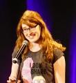 Marion Fuchs beim Poetry Slam Erlangen im Mai 2015