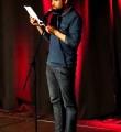 Piet Weber im Finale beim Poetry Slam Erlangen im Mai 2015