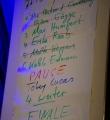 Die Poetenliste beim Poetry Slam Erlangen im Mai 2016