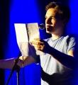 Kaleb Erdmann beim Poetry Slam Erlangen im Mai 2016