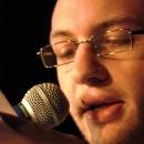 Tobias Schmolke beim Poetry Slam Erlangen im November 2013