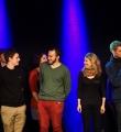 Die Finalisten beim Poetry Slam im November 2014