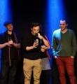 Gewinner Kaleb beim Poetry Slam im November 2014