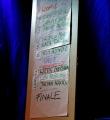 Poetenliste beim Poetry Slam im November 2014