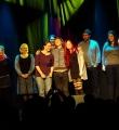 Die drei Finalisten beim Poetry Slam Erlangen im November 2015