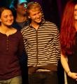 Die Finalisten beim Poetry Slam Erlangen im November 2015