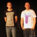 Die zwei Finalisten Paul Weigl & Alex Burkhardt beim Poetry Slam Erlangen Oktober 2010
