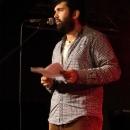 Emir Taghikhani beim Poetry Slam Erlangen im Oktober 2013