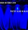 Die Bühne im Saal beim Poetry Slam im Oktober 2014