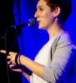 Kathi Mock beim Poetry Slam im Oktober 2014
