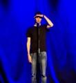 Lucas Fassnacht beim Poetry Slam im Oktober 2014