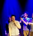 Der Sieger des Abends Paul Weigl beim Poetry Slam im Oktober 2014
