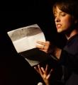 Annika Blanke beim Poetry Slam Erlangen im Oktober 2015