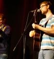 Die Band ByeBye beim Poetry Slam Erlangen im Oktober 2015