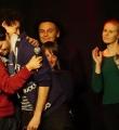 Der Sieger Nils Frenzel beim Poetry Slam Erlangen im Oktober 2015