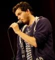 Nils Frenzel im Finale beim Poetry Slam Erlangen im Oktober 2015