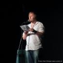 """Julius Fischer, vielen bekannt vom Duo The Fuck Hornisschen Orchestra beim Poetry Slam Erlangen """"Sommer Spezial"""" August 2010"""