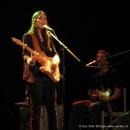 """Lydia Daher mit Bandkollege beim Poetry Slam Erlangen """"Sommer Spezial"""" August 2010"""